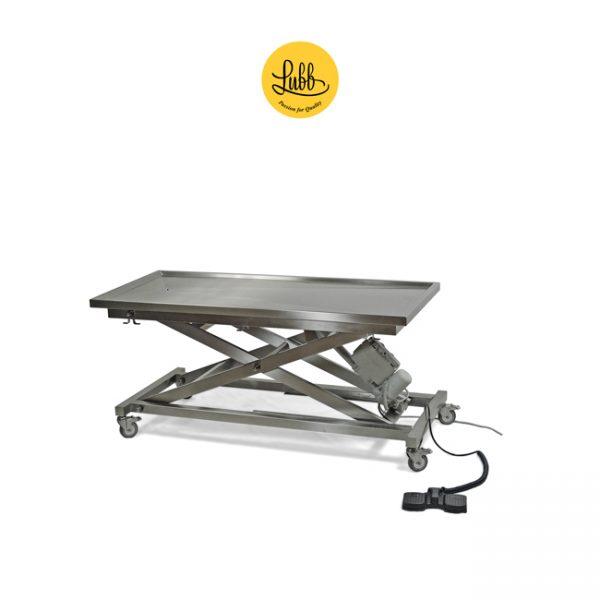 Table de chirurgie électrique avec structure en X réglable en hauteur et plateau plat - 3