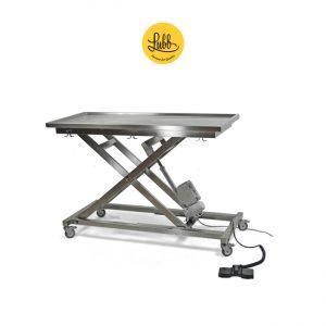 Table de chirurgie électrique avec structure en X réglable en hauteur et plateau plat