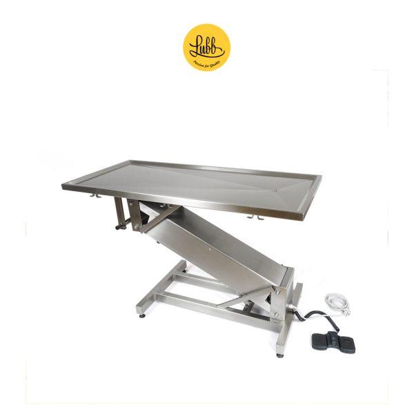 Table de chirurgie électrique avec structure en acier inoxydable en Z et plateau plat
