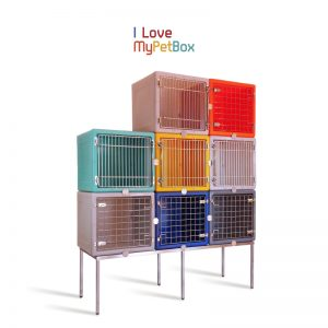 Bases pour Cages ILoveMyPetBox - base avec 6 pieds - montré avec des cages