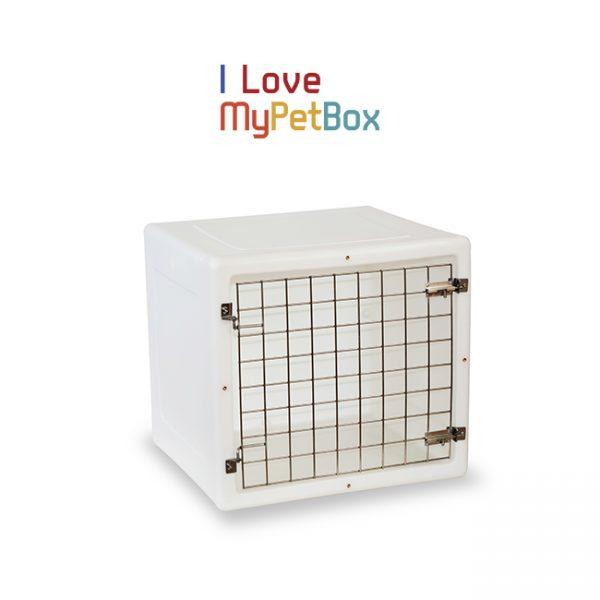 ILoveMyPetBox cage - blanche avec porte de base