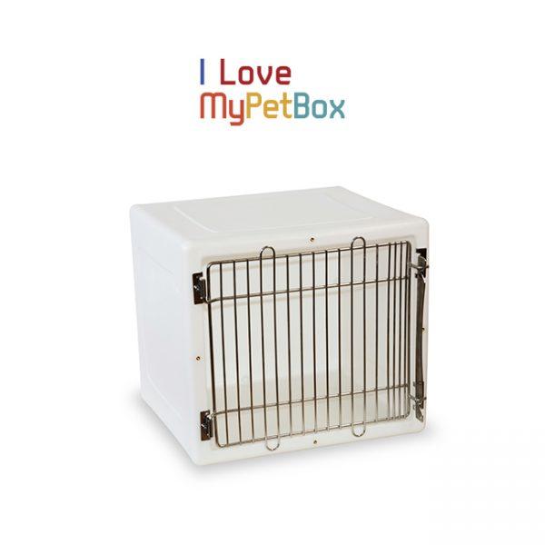 ILoveMyPetBox cage - blanche avec porte médicale