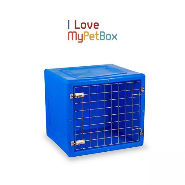 ILoveMyPetBox cage - bleue avec porte de base