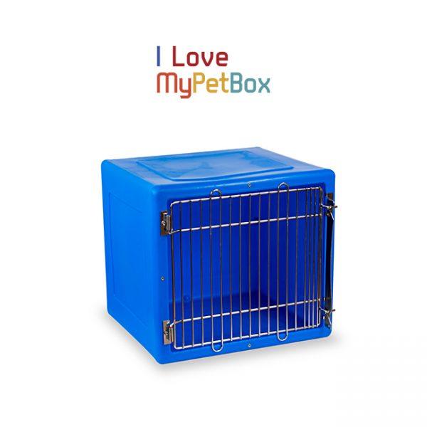 ILoveMyPetBox cage - bleue avec porte médicale