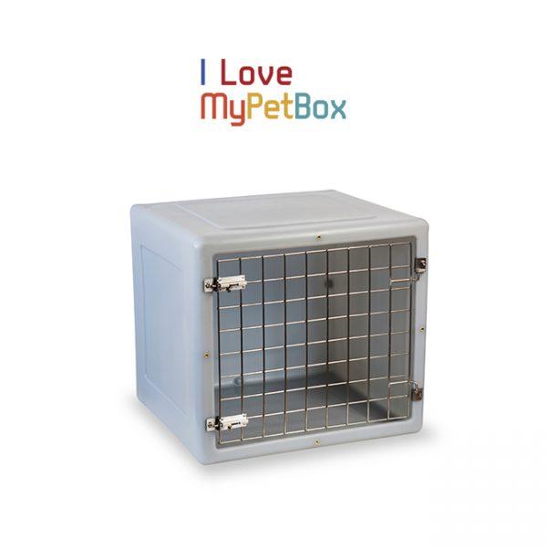 ILoveMyPetBox cage - gris clair avec porte de base