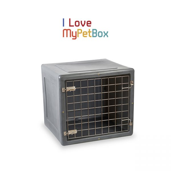 ILoveMyPetBox cage - gris foncé avec porte de base