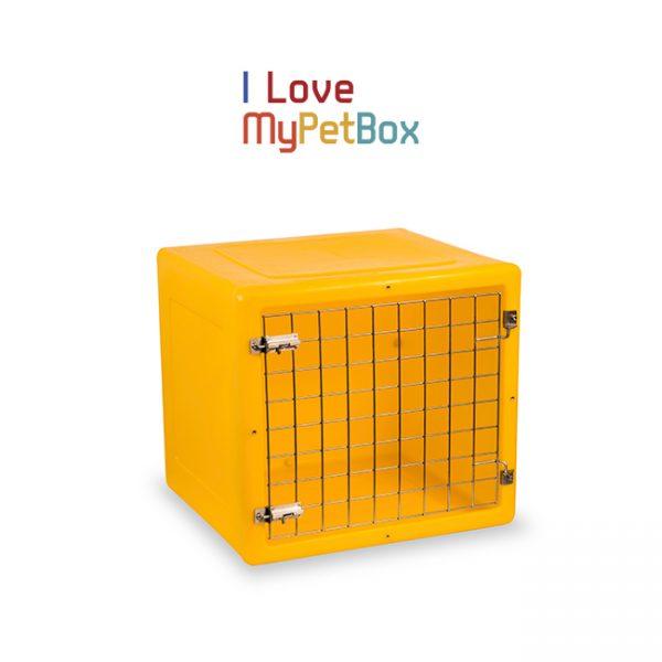 ILoveMyPetBox cage - jaune avec porte de base