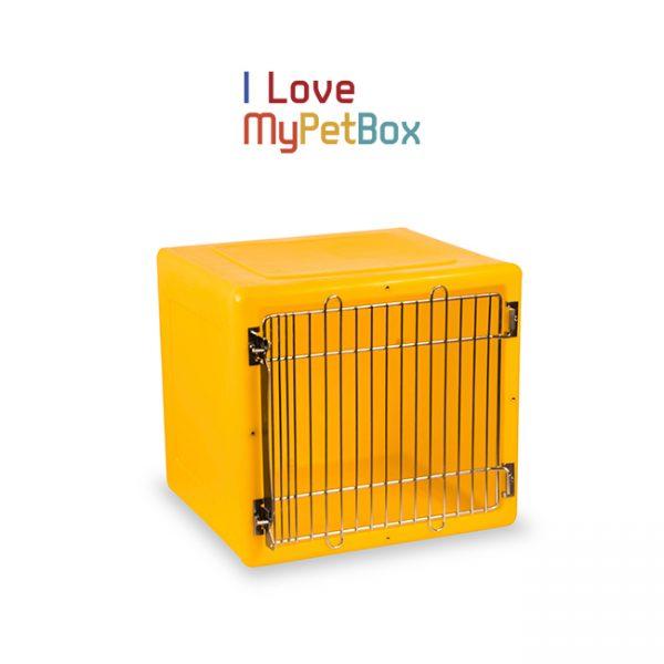 ILoveMyPetBox cage - jaune avec porte médicale