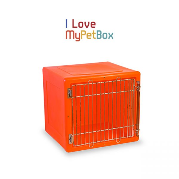 ILoveMyPetBox cage - orange avec porte médicale