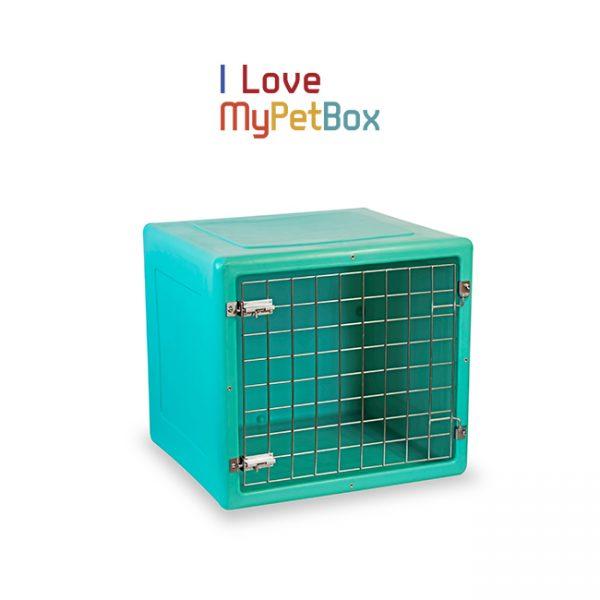 ILoveMyPetBox cage - verte avec porte de base