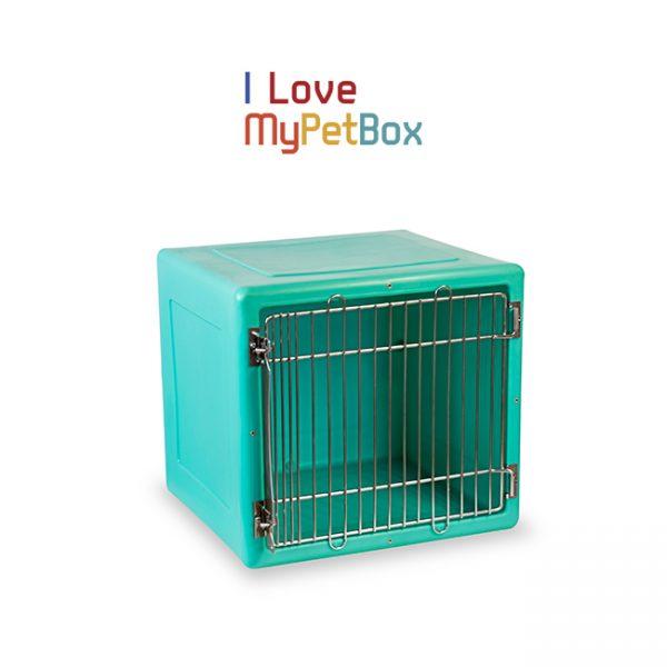 ILoveMyPetBox cage - verte avec porte médicale